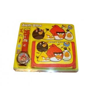"""Подарочный набор """"Часы+кошелек"""" ANGRY BIRDS"""