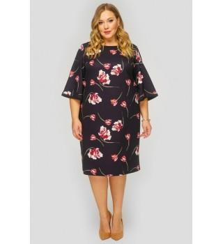 Платье базовое с широкими рукавами арт.SP813012