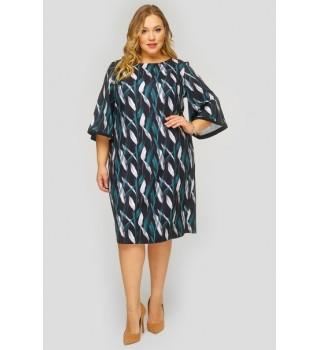Платье базовое с широкими рукавами арт.SP813011